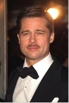 #BradPitt + #Mustache = Perfect Beauty. You + Mustache= Possible Beauty + Raising Money for a great cause.   Sign up to be a 'stache grower! Visit this site for more info: http://www.servings.org/event/mustachio/index.cfm