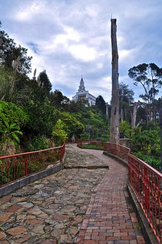 Monserrate Sanctuary above Bogota, Colombia. I would love to visit again. feet above the sea level. Places Around The World, Oh The Places You'll Go, Places To Travel, Places To Visit, Around The Worlds, Colombia South America, South America Travel, Wonderful Places, Great Places