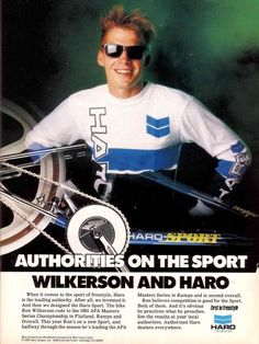 Haro Sport advertisement featuring Ron Wilkerson!