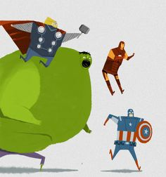 The Avengers by Andy Helms