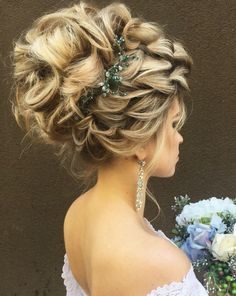 Best Ideas For Wedding Hairstyles : Featured Hairstyle: Websalon Wedding, Anna Komarova; Evening Hairstyles, Best Wedding Hairstyles, Homecoming Hairstyles, Fancy Hairstyles, Summer Hairstyles, Girl Hairstyles, Hairstyle Wedding, Blonde Updo, Medium Hair Styles