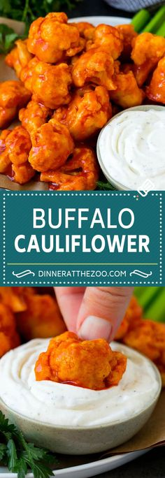 Cauliflower Wings Characteristic of The Pin: Buffalo Cauliflower The pin registered in the Dinner at … Veggie Dishes, Vegetable Recipes, Food Dishes, Vegetarian Recipes, Cooking Recipes, Healthy Recipes, Healthy Cauliflower Recipes, Vegetarian Meatballs, Veggie Food