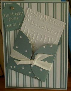 Birthday card...could use to hold gift card.