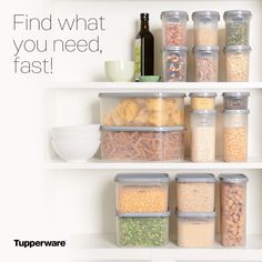 Fantastic for storing flour, sugar, pulses etc. Utilises all the space in your pantry Pantry Storage, Food Storage, Moving Out Of Home, Home Party Business, Tupperware Consultant, Pantry Makeover, Host Gifts, Patriotic Party, Outdoor Art