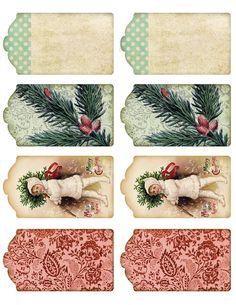 Lilac & Lavender: November 2012 - lots of free printables Noel Christmas, Victorian Christmas, Christmas Gift Tags, Christmas Images, Vintage Christmas, Christmas Crafts, Xmas, Vintage Tags, Vintage Labels