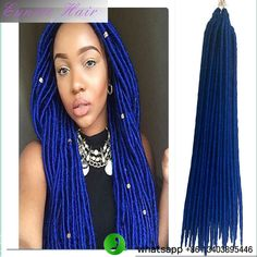 (2 PACKS)faux locs crochet hair extensions synthetic dreads havana mambo faux dreads 24 roots/pack synthetic braids