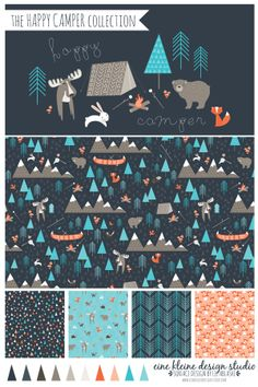 The Happy Camper Collection by Liz Ablashi, via Behance