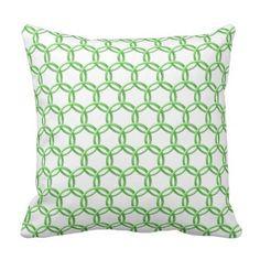 Pillow - Interlocking Green Rings  $34.85  by bkmuir  - custom gift idea