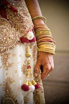 Bangles Galore! #Indian #bridal #style