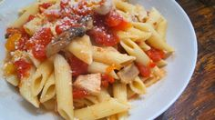 Saltwater Happy's Penne Pasta with Chicken and Crushed Tomato