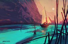 ArtStation - Boat Illustration for Savage Interactive , Amir Zand