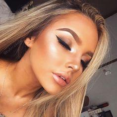 Maquiagem com pele super iluminada   pinterest ↠ @dessrosa