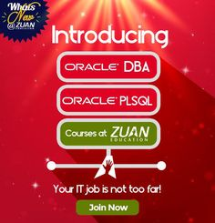 "And, finally here's the answer for #WhatsNewatZuan !! Introducing ""Oracle DBA"" & ""Oracle PLSQL"" courses..."