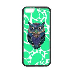 Mint Paisley Owl Case for iPhone 6