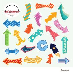 """Arrows clipart commercial use, pointer clipart, polka dot arrow vector clip art, dart image, vector graphics  GREAT FOR Birthday invitation, birthday decor, card design, crafts, stickers, paper crafts, album cuts, scrapbooking, personal website / blog, party circles, party tags, labels, cupcake labels, and many more!  YOU WILL RECEIVE - Each clipart saved separately in 6""""x6"""" 300 dpi PNG files - Each clipart saved separately in 6"""" x 6"""" 300 dpi PSD files - 1 EPS file fully customizable in ..."""