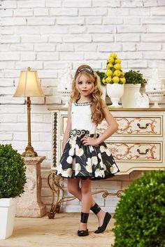 Vestido Anjo D'Agua Moda Infantil 6303