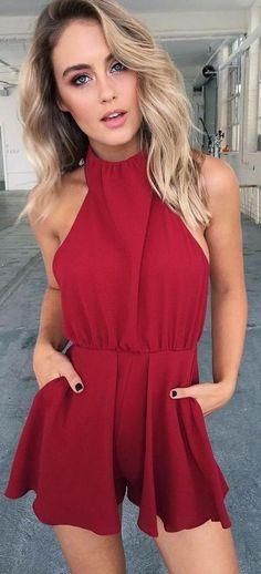 #summer #tigermist #outfits | Red Romper