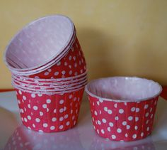 Red Polka Dot Candy Cups Nut  Treat Portion by isakayboutique, $4.79 for cupcakes