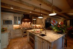 Valle Crucis Cottage Painted, Glazed and Distressed Kitchen Cabinets