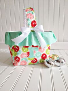 Mint Floral Ruffle Personalized Basket © SewEMG 2013 All Rights Reserved   The last day to order for guaranteed Easter delivery is March 17!
