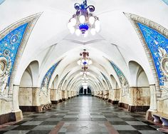 Underneath the streets of Moscow, there's a whole other world of opulent architecture for visitors to discover: the Moscow Metro. David Burdeny, an architect-turned-photographer from Canada, believes that he was the first photographer ever to be allowed to shoot the stations after-hours, when they were closed to passengers.  The Moscow Metro, which opened in 1935, was designed to be one big Soviet propaganda project. The o…