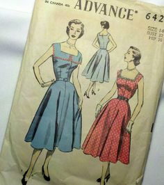 I just really want one of these dresses!  Mad Men Fifties Dress Pattern by MadVarietyShow on Etsy, $12.00