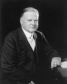 Official White House portrait of Herbert Hoover, the 31st President of the United States, 1929-1933.