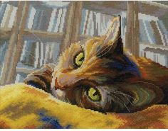 Book Loving Cat - Cross Stitch Kit