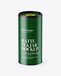 Matte Tea Jar Mockup (High-Angle Shot)