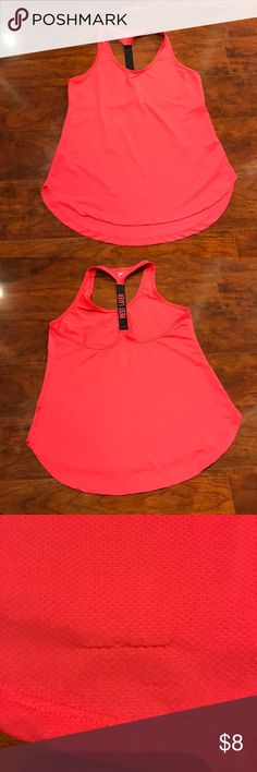 """Old Navy   Hot Pink Workout Tank Hot pink racer back tank with """"Rest Later"""" on the back. Snag on back hem. Old Navy Tops Tank Tops"""