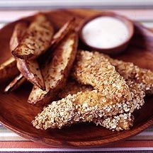 Chicken Fingers with Ranch Dip and Seasoned Fries
