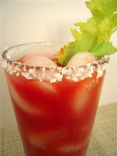 """Overnight Bloody Marys recipe (adapted from 1994 edition of Southern Living """"Our Best Christmas Recipes"""")"""