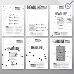 Brochure template with molecules by VectorShop on Creative Market