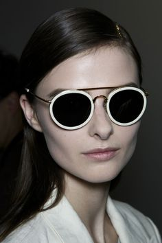 Dries Van Noten at Paris Spring 2014 (Backstage) #sunnies #sunglasses