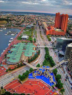 Inner Harbor in Baltimore, Maryland.