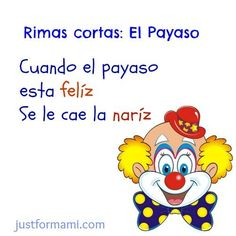 """Search for """"rimas"""" - Just for Mami Dual Language, Spanish Language, Toddler Learning, Preschool Activities, Short Poems, Phonological Awareness, Club Kids, Spanish Lessons, How To Speak Spanish"""