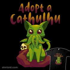 """Adopt a Cathulhu"" by Andriu Cat Cthulhu Chihiro Y Haku, Clutter Organization, Bedroom Organization, Kitchen Organization, Organization Ideas, Lovecraftian Horror, Eldritch Horror, Hp Lovecraft, Octopus Art"
