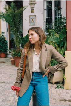 Rouje - Albert coat in beige Winter Outfits, Casual Outfits, Cute Outfits, Fashion Outfits, Style Chic Parisien, French Girl Style, Summer Lookbook, Looks Vintage, Work Fashion