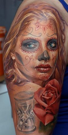 ~Sugar Skull Girl~ - Ink Tattoo