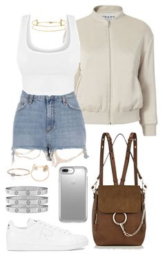 """""""Untitled #707"""" by naomiariel ❤ liked on Polyvore featuring Chloé, Frame, River Island, adidas, Cartier, Speck, Shihara and Delfina Delettrez"""