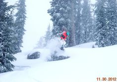 "Chad crushing the powder, Nov. 30th, 11-15"" of new snow so far today! by Mt. Rose Ski Tahoe, via Flickr"