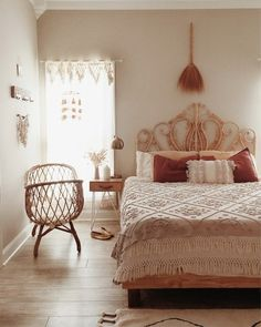 LVE this Natural Boho Nursery Bedroom Interior from Wholesome Mama Sweet Dreams Dream Bedroom, Home Decor Bedroom, Bohemian Room Decor, Spiritual Decor, Feng Shui Bedroom, Beautiful Bedrooms, House Rooms, Apartment Living, Cool Stuff
