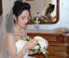 #Realbride in her Allure Bridal #blushpinkweddingdress #abitodasposarosacipria