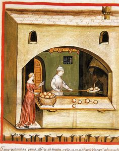 The Middle Ages - Medieval Famines, Bread & Wine by Hugh O'Reilly Medieval Market, Medieval World, Medieval Fantasy, Medieval Manuscript, Illuminated Manuscript, Renaissance, Medieval Crafts, Medieval Paintings, Late Middle Ages