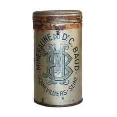 Boite pharmaceutique Minéraline : Location de décoration vintage
