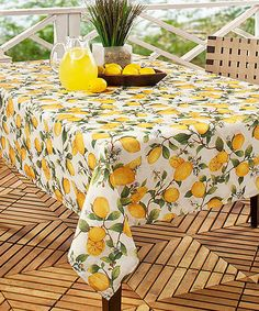 Another great find on #zulily! Lemon Tree Floral Spill-Proof Tablecloth #zulilyfinds