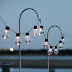 20 Warm White Carnival Solar Festoon Lights Fairy Party Panels