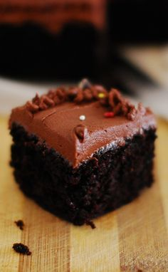 Chocolate cake. Quick and easy - divine with creamy nutella frosting