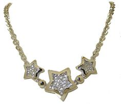 PAVE' STAR NECKLACE HIGH END NEW