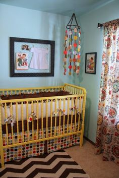 this crib...now is it too much to find one and refinish in teal/lavender/pearl white?/